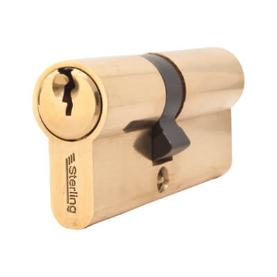 5 Pin Cylinder - Euro Double - 30 + 40mm - Brass