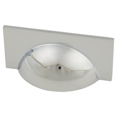 Crofts & Assinder Monmouth Cup Cabinet Handle - 64mm Centres - Polished Chrome)