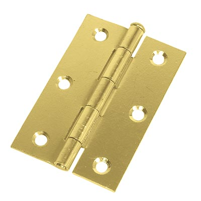 Loose Pin Steel Hinge - 89 x 58mm - Brass Plated - Pair