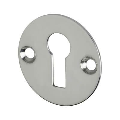 Cabinet Lock Escutcheon - 25mm - Nickel Plated