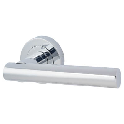 Touchpoint Bella Lever Door Handle on Rose - Polished Chrome)