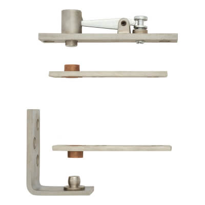 Cubicle Pivot Set - Stainless Steel)