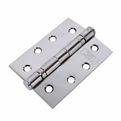 Jedo Twin Ball Bearing Steel Hinge - 102 x 76 x 2.7mm - Polished Chrome)