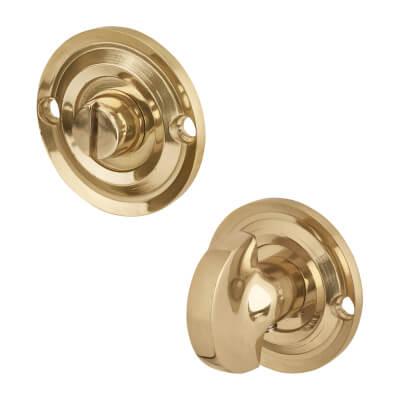 Aglio Bathroom Turn & Release - Polished Brass)
