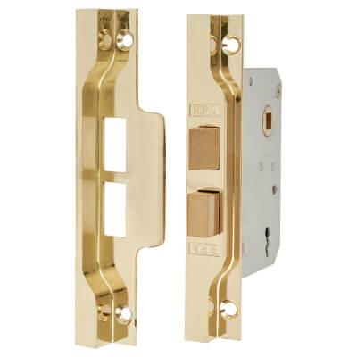 ERA® 2 Lever Rebated Sashlock - 77mm Case - 56mm Backset - Electro Brass
