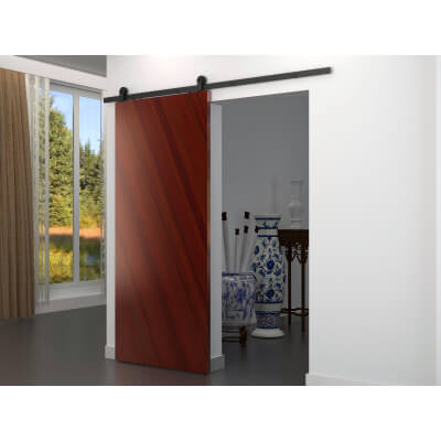 Barrierslide Ivan 2.0 Barn Strap Sliding Door Kit - 2000mm - Black)