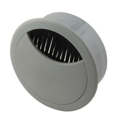 ION Round Cable Tidy - 60mm - Grey - Pack 10