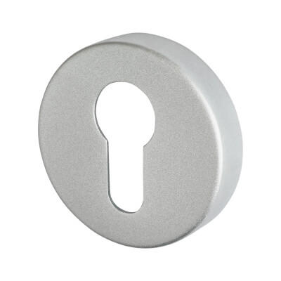 Project Puma Escutcheon - Euro - Satin Aluminium