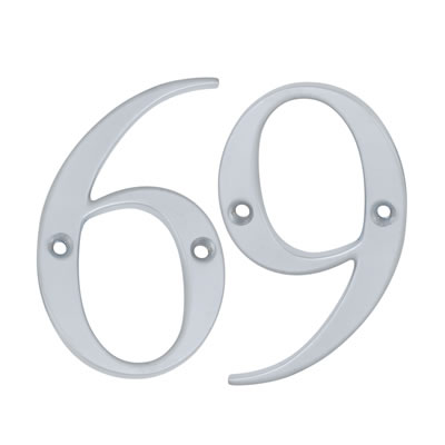 76mm Numeral - 6/9 - Satin Chrome