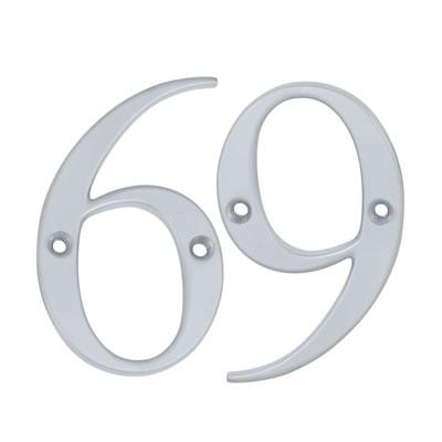 76mm Numeral - 6/9 - Satin Chrome