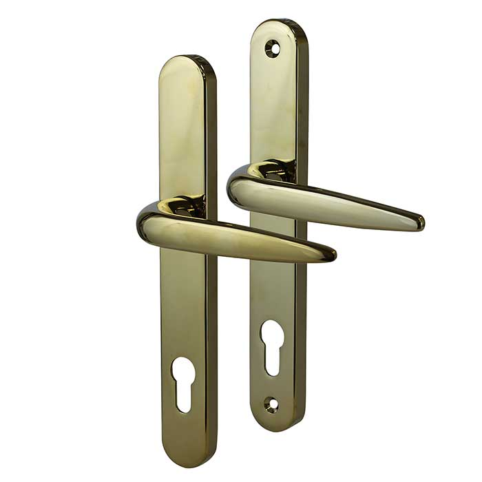 Trojan Sparta Multipoint Handle - uPVC/Timber - Lever/Lever - PVD Gold