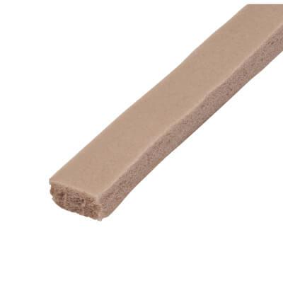Stormguard Rubber Foam Weatherstrip - 3500mm - Brown)