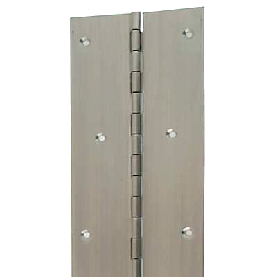 Piano Hinge - 1800 x 25.4 x 1mm - Satin Stainless Steel)