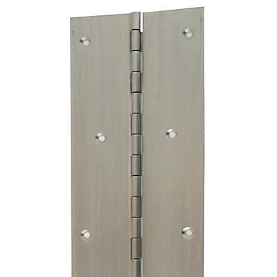 Piano Hinge - 1800 x 25.4 x 1mm - Satin Stainless Steel
