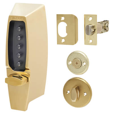Kaba Unican Light Duty Mechanical Code Lock - Polished Brass)