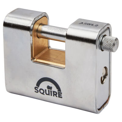 Squire Armoured Steel Shutter Lock - 80mm - Keyed Alike