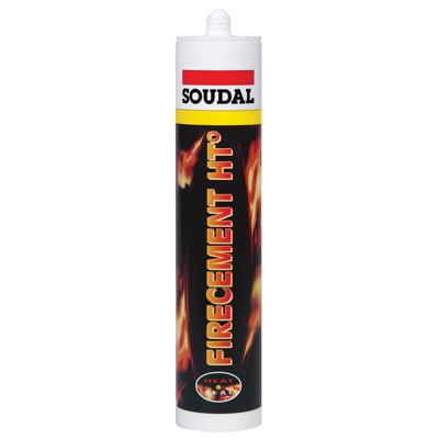 Soudal Firecement HT - 310ml - Black)