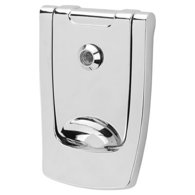Hoppe Designer Knocker with viewer - 110 x 74mm - Polished Chrome