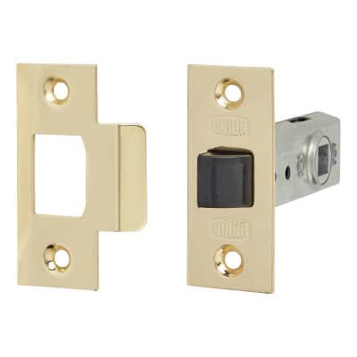 UNION® 2648 Tubular Mortice Latch - 64mm Case - 44mm Backset - Polished Brass