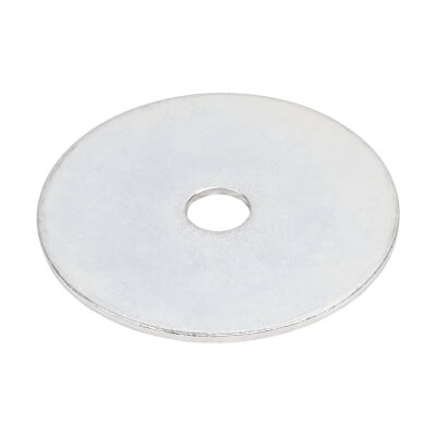 Penny Repair Washer - 38mm Diameter x 6mm Hole - Zinc Plated - Pack 25