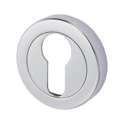 Aglio Escutcheon - Euro - Polished Chrome