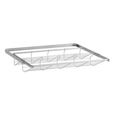 elfa® Gliding Shoe Shelf - 605mm - Platinum)