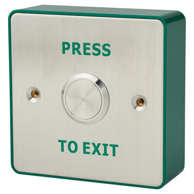 Stainless Steel Egress Switch - 85 x 85mm