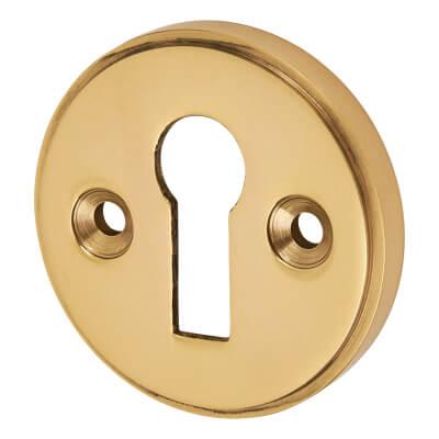 Escutcheon - Keyhole - Polished Brass