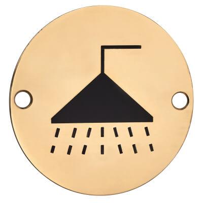 Shower - 75mm - Polished Brass