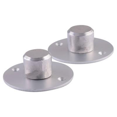 Floor to Ceiling Post Feet - Satin Anodised Aluminium