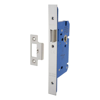 A-Spec Architectural DIN Latch - 85mm Case - 60mm Backset - Polished Stainless
