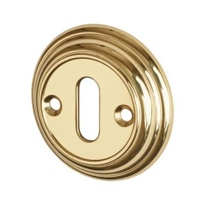 Aglio Escutcheon - Keyhole - Polished Brass)