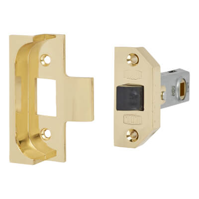 UNION® 2650 Rebated Tubular Latch - 80mm Case - 57mm Backset - Electro Brass