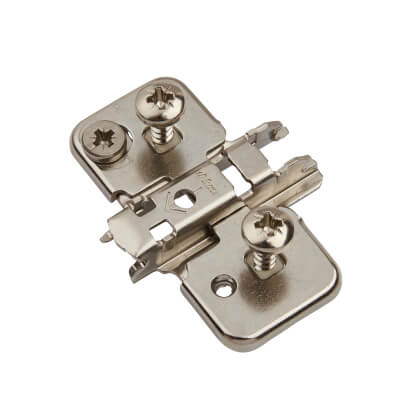 Blum CLIP Mounting Plate - Cruciform - Expando - 0mm Spacing - Nickel Plated