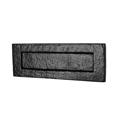 Elden Plain Letter Plate - 254 x 90mm - Antique Black Iron)