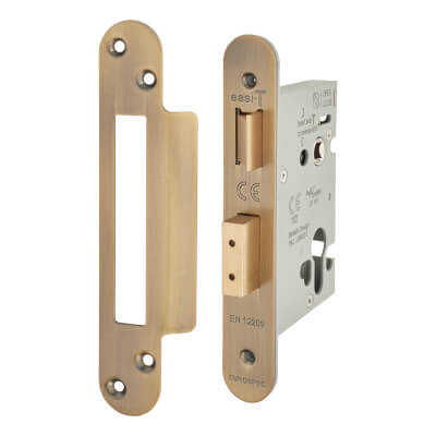A-Spec Architectural Euro Sashlock - 78mm Case - 57mm Backset - Radius - Florentine Bronze