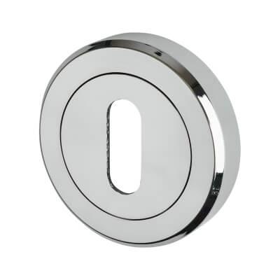 Carlisle Brass Escutcheon - Keyhole - Polished Chrome