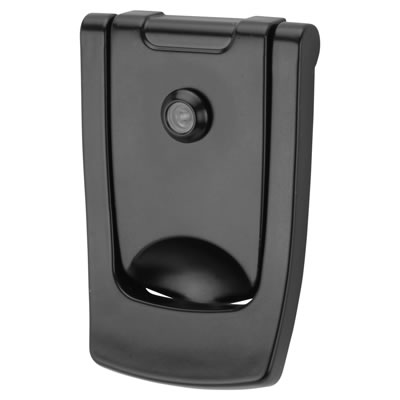 Hoppe Designer Knocker with viewer - 110 x 74mm - Black