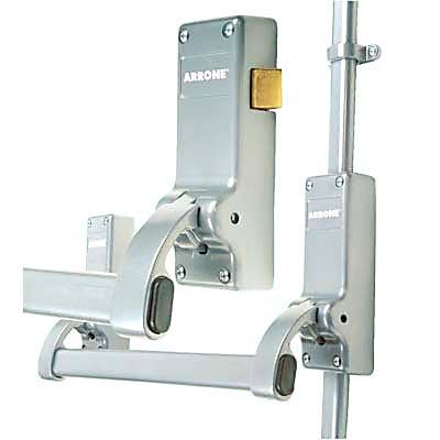 Arrone® Rebated Double Door Panic Bar Set - Silver)