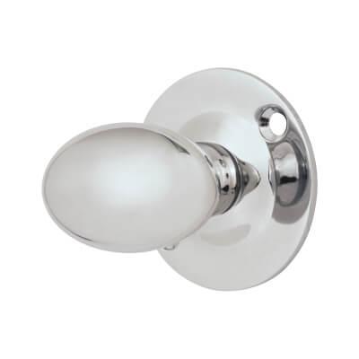 Oval Spline Turn - Polished Chrome
