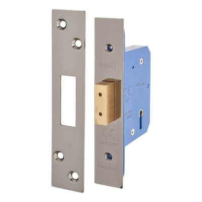 A-Spec Architectural 5 Lever Deadlock - 65mm Case - 44mm Backset - Black Nickel