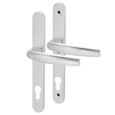 Hoppe - uPVC/Timber - Aluminium Multipoint Door Handle - 92mm Centres - Silver Anodised