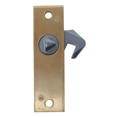 Hook Bolt Budget Lock - 78 x 23mm - Right Hand - Brass