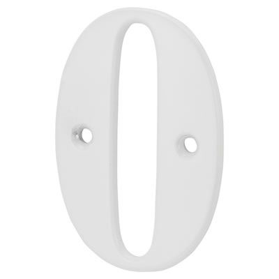 76mm Numeral - 0 - White