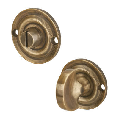 Aglio Bathroom Turn & Release - Florentine Bronze)