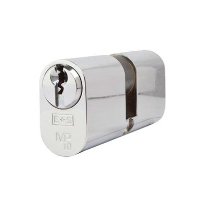 Eurospec MP10 - Oval Double Cylinder - 35 + 35mm - Polished Chrome  - Keyed Alike