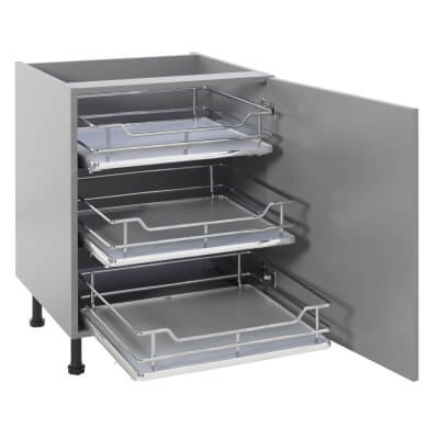 25kg Single Soft Close Pull Out Organiser - Cabinet Width 600mm
