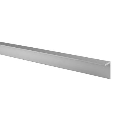 Pro Angled Headrail - Satin Anodised Aluminium - 17-19mm Panels
