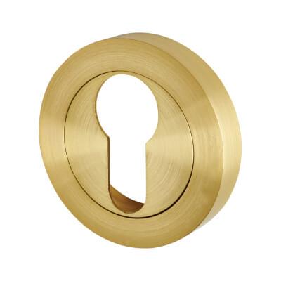 Touchpoint Escutcheon - Euro - Satin Brass