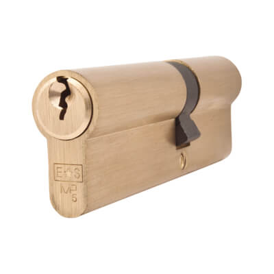 5 Pin Cylinder - Euro Double - 40 + 55mm - Brass